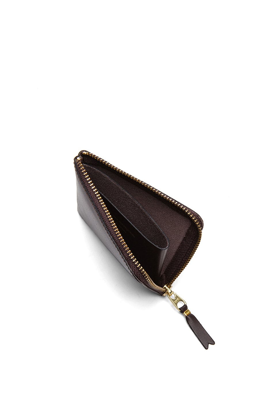 Image 4 of Comme Des Garcons Small Zip Wallet in Brown