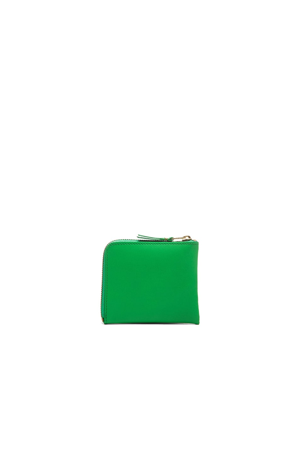 Image 2 of Comme Des Garcons Small Zip Wallet in Green