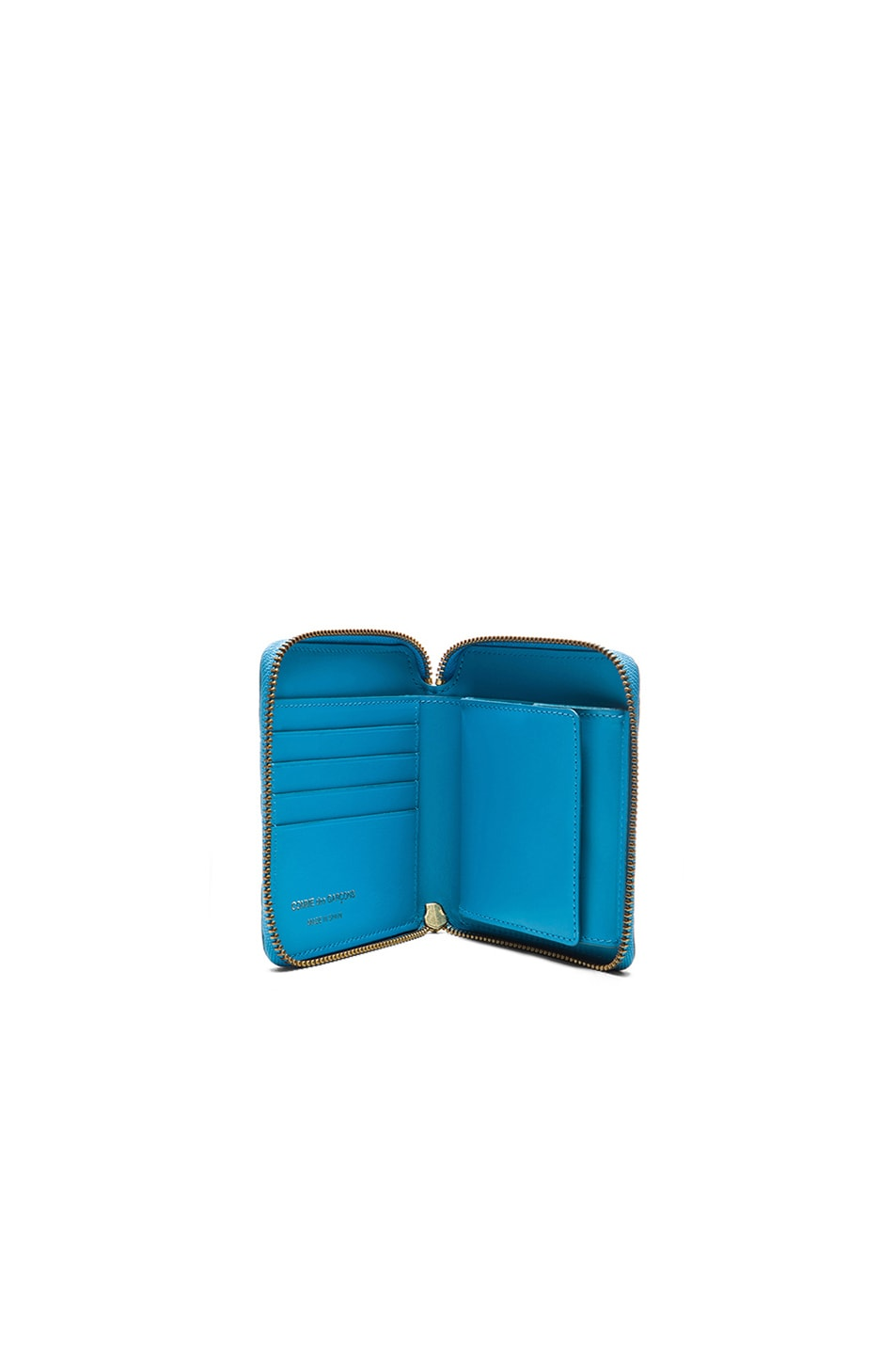 Image 4 of Comme Des Garcons Clover Embossed Zip Fold Wallet in Blue
