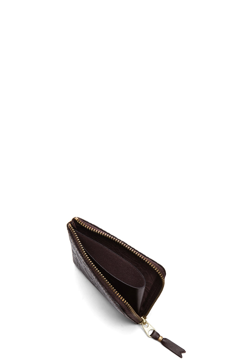 Image 4 of Comme Des Garcons Star Embossed Small Zip Wallet in Brown