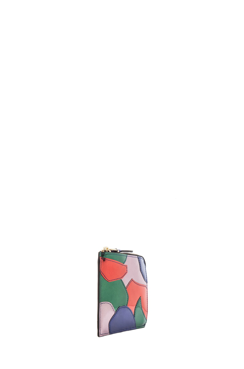 Image 3 of Comme Des Garcons Small Patchwork Metal Zip Wallet in Multi