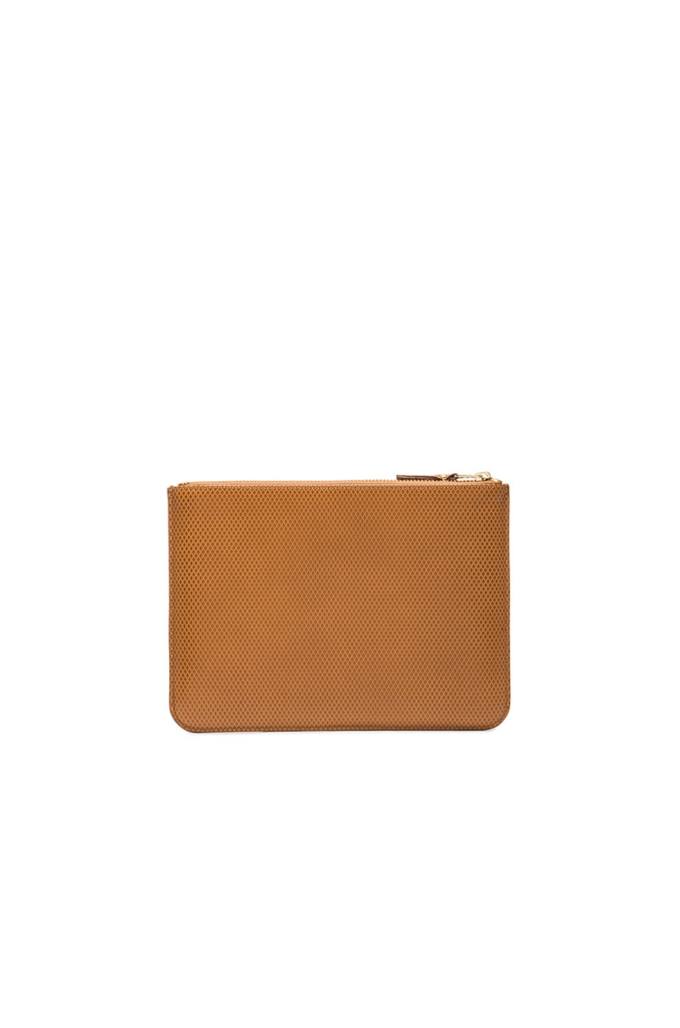 Image 2 of Comme Des Garcons Luxury Leather Pouch in Beige