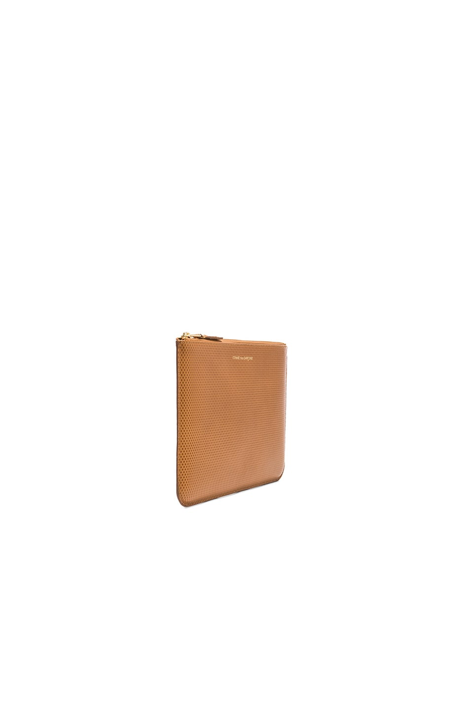 Image 3 of Comme Des Garcons Luxury Leather Pouch in Beige