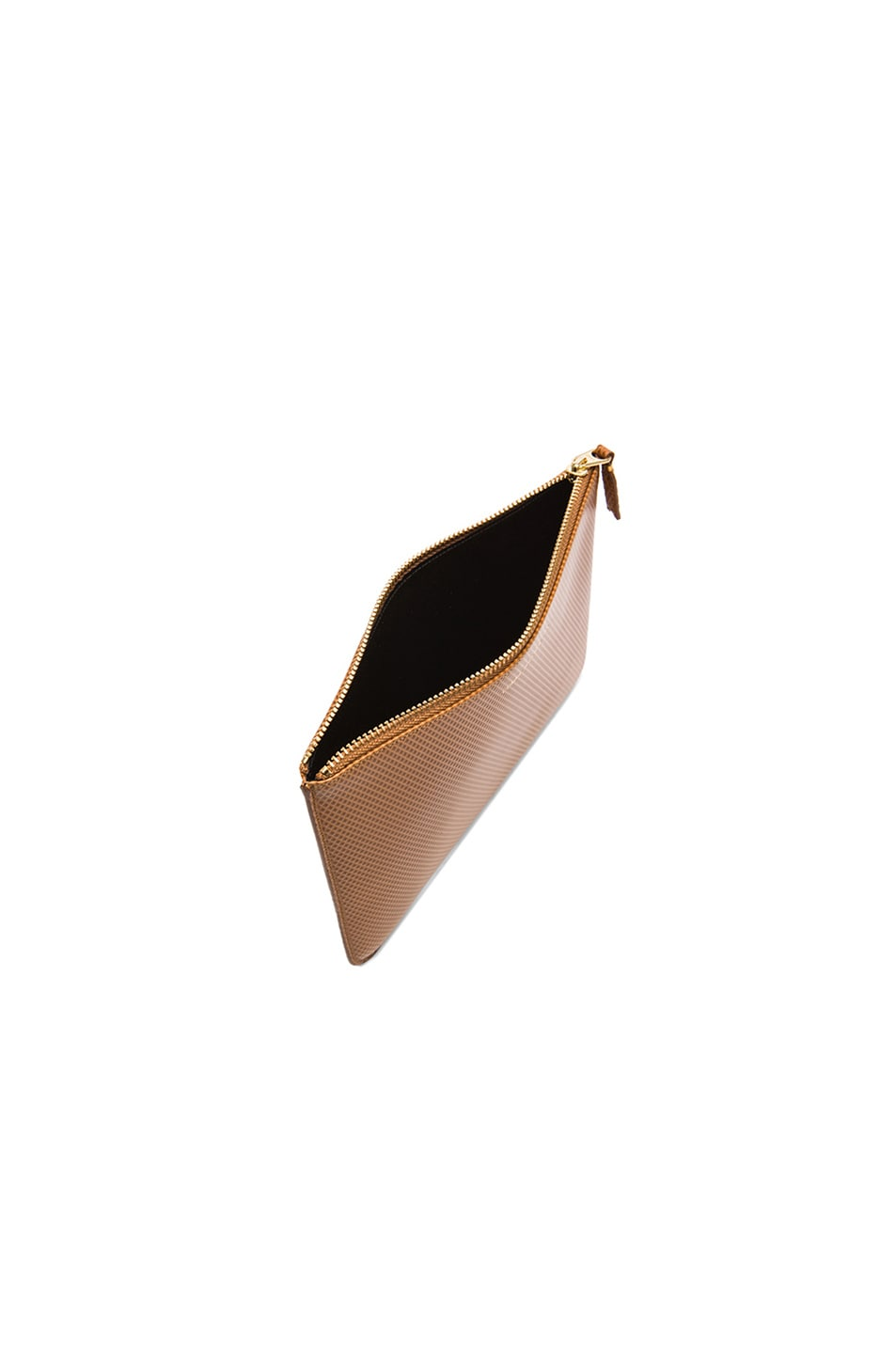 Image 4 of Comme Des Garcons Luxury Leather Pouch in Beige