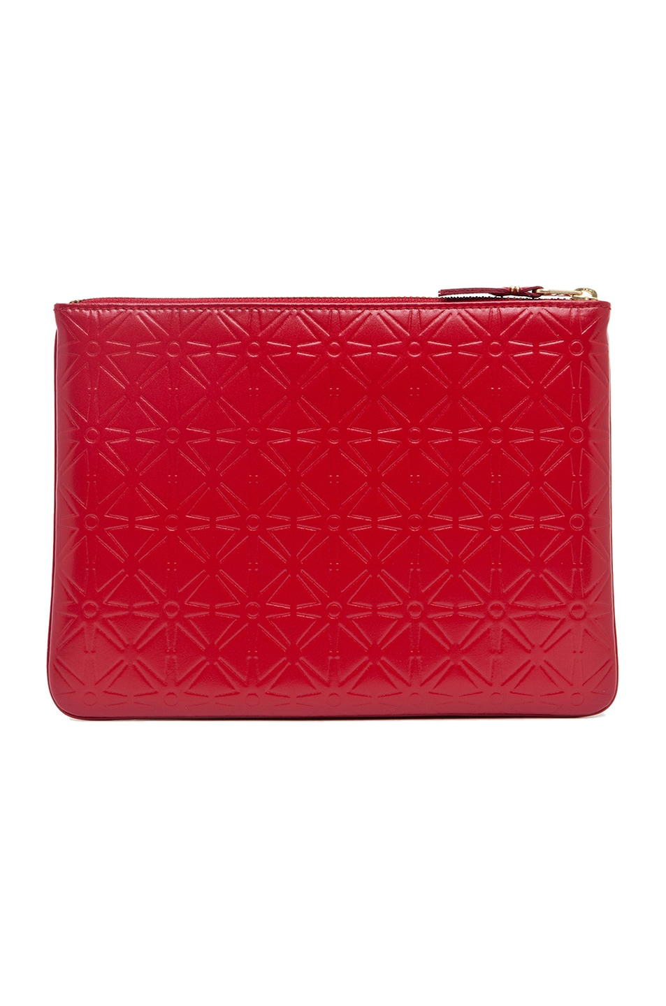 Image 2 of Comme Des Garcons Star Embossed Pouch in Red