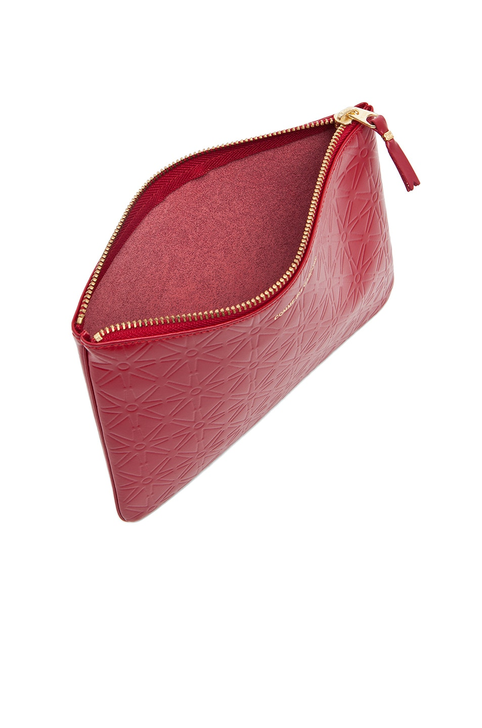 Image 4 of Comme Des Garcons Star Embossed Pouch in Red