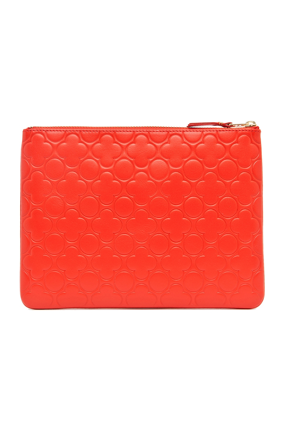 Image 2 of Comme Des Garcons Clover Embossed Pouch in Orange