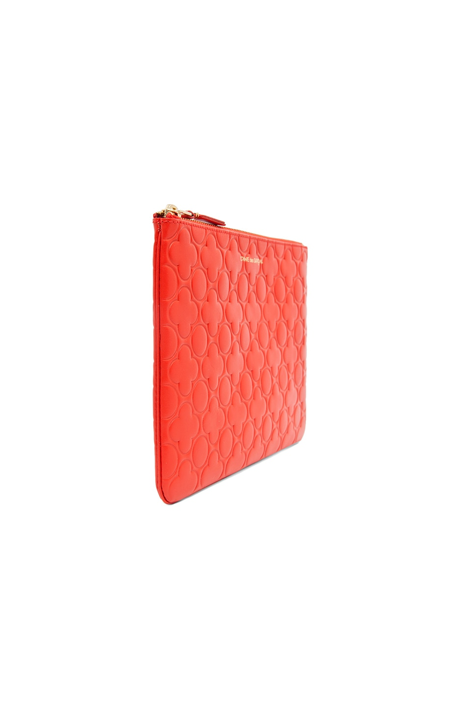 Image 4 of Comme Des Garcons Clover Embossed Pouch in Orange