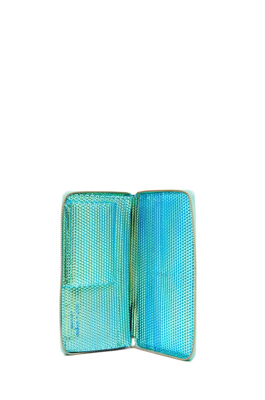 Image 4 of Comme Des Garcons Emboss Metallic Long Wallet in Green
