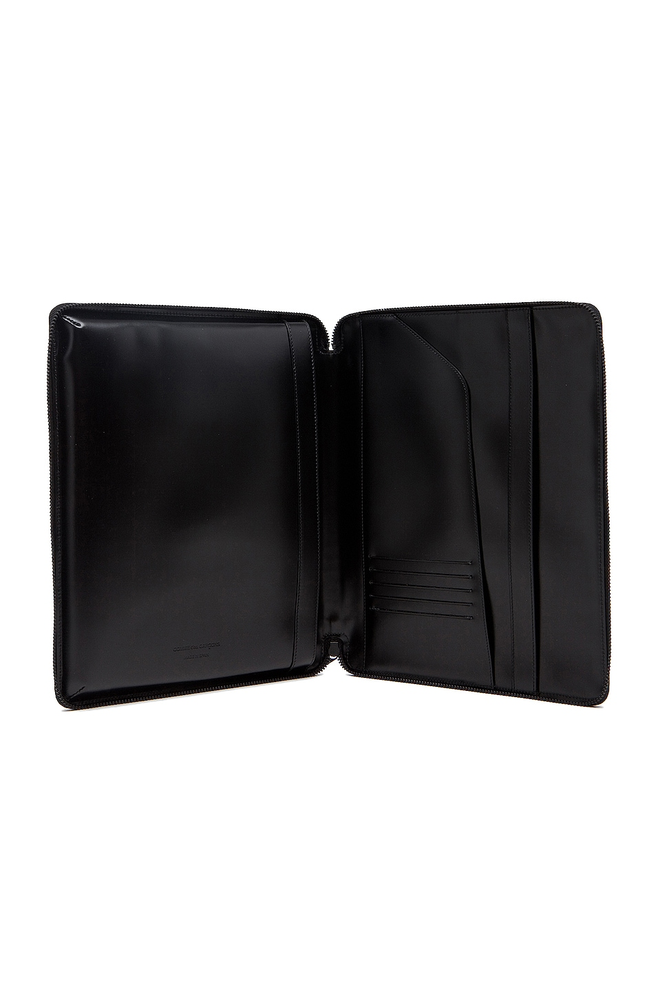Image 4 of Comme Des Garcons Luxury Leather iPad Case in Black