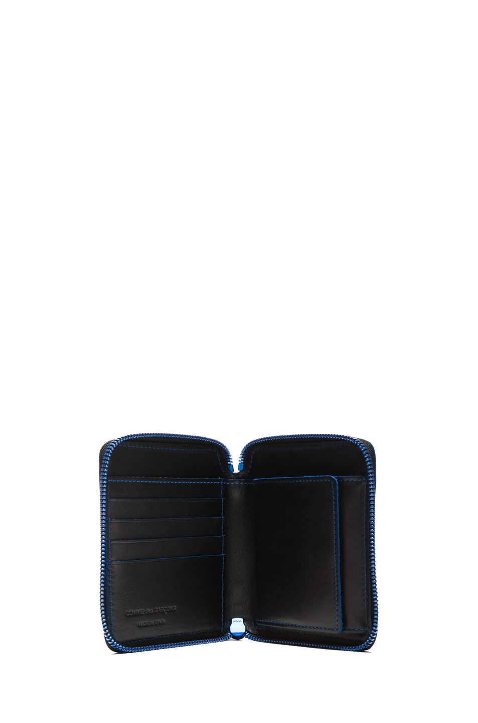 Image 4 of Comme Des Garcons Marvellous Zip Wallet in Blue