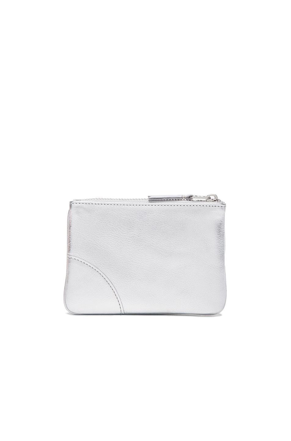 Image 2 of Comme Des Garcons Gold Line Small Pouch in Silver