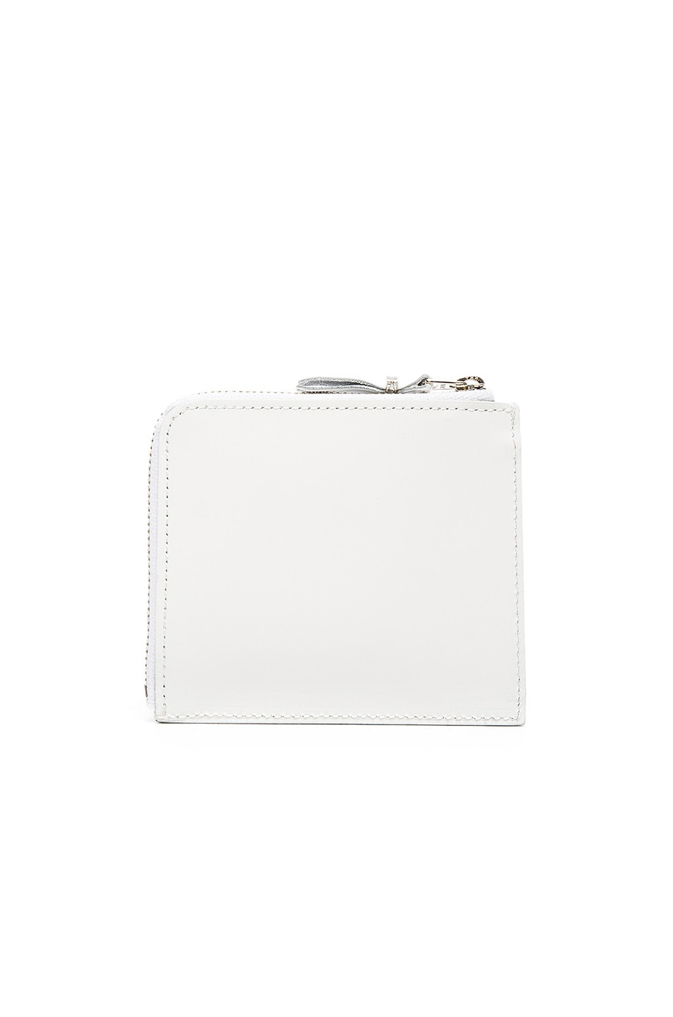 Image 2 of Comme Des Garcons Studded Leather Zip Wallet in White