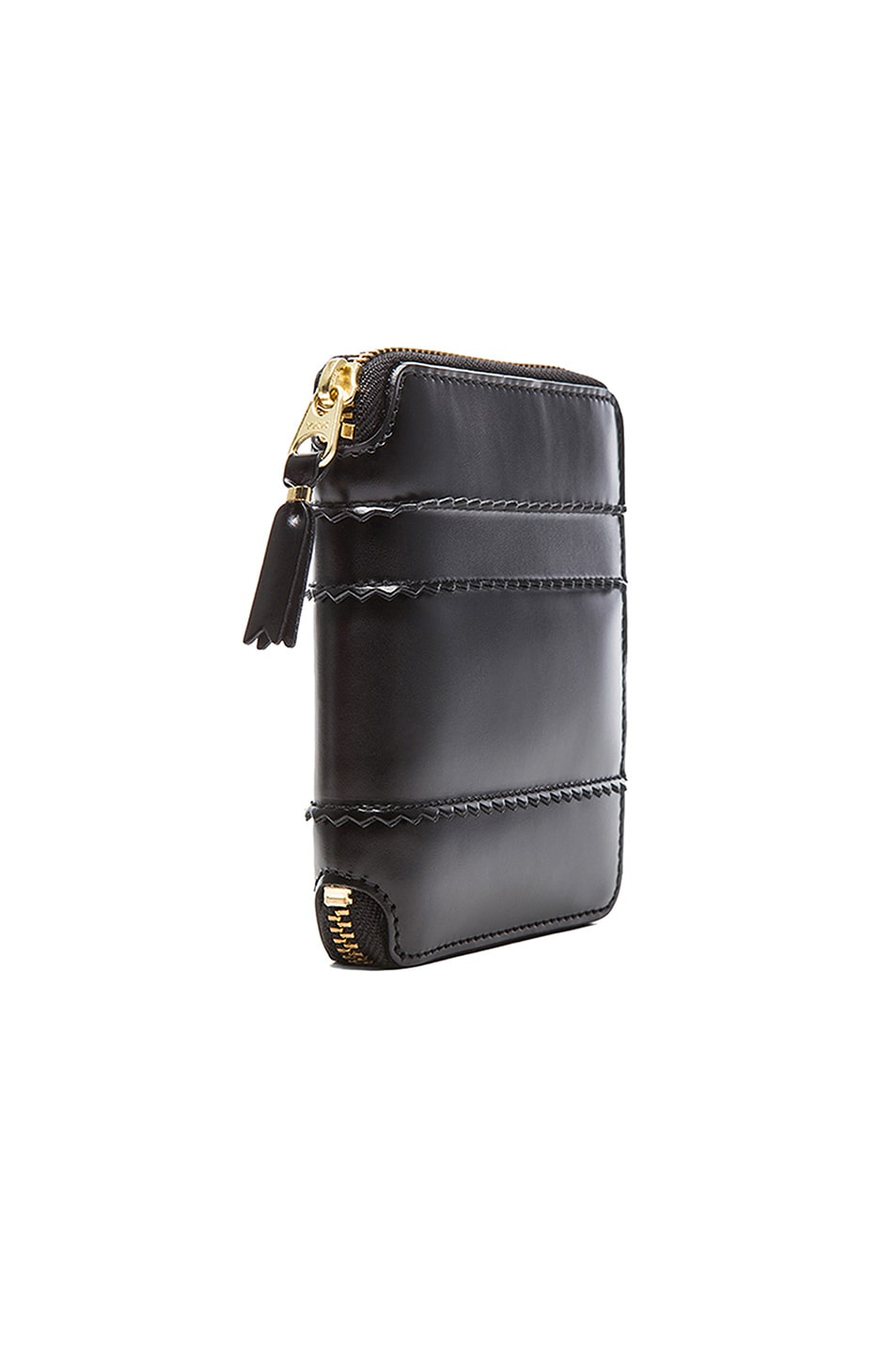 Image 3 of Comme Des Garcons Raised Spike Zip Fold Wallet in Black