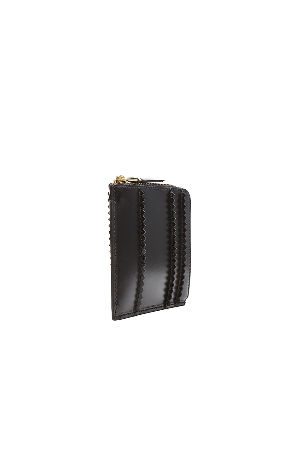 Image 3 of Comme Des Garcons Raised Spike Small Zip Wallet in Black