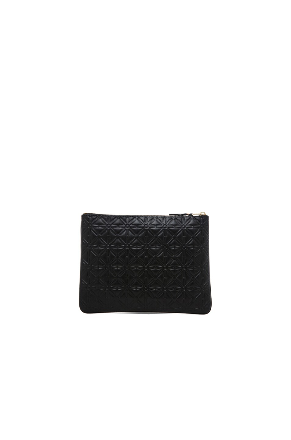 Image 2 of Comme Des Garcons Star Embossed Pouch in Black