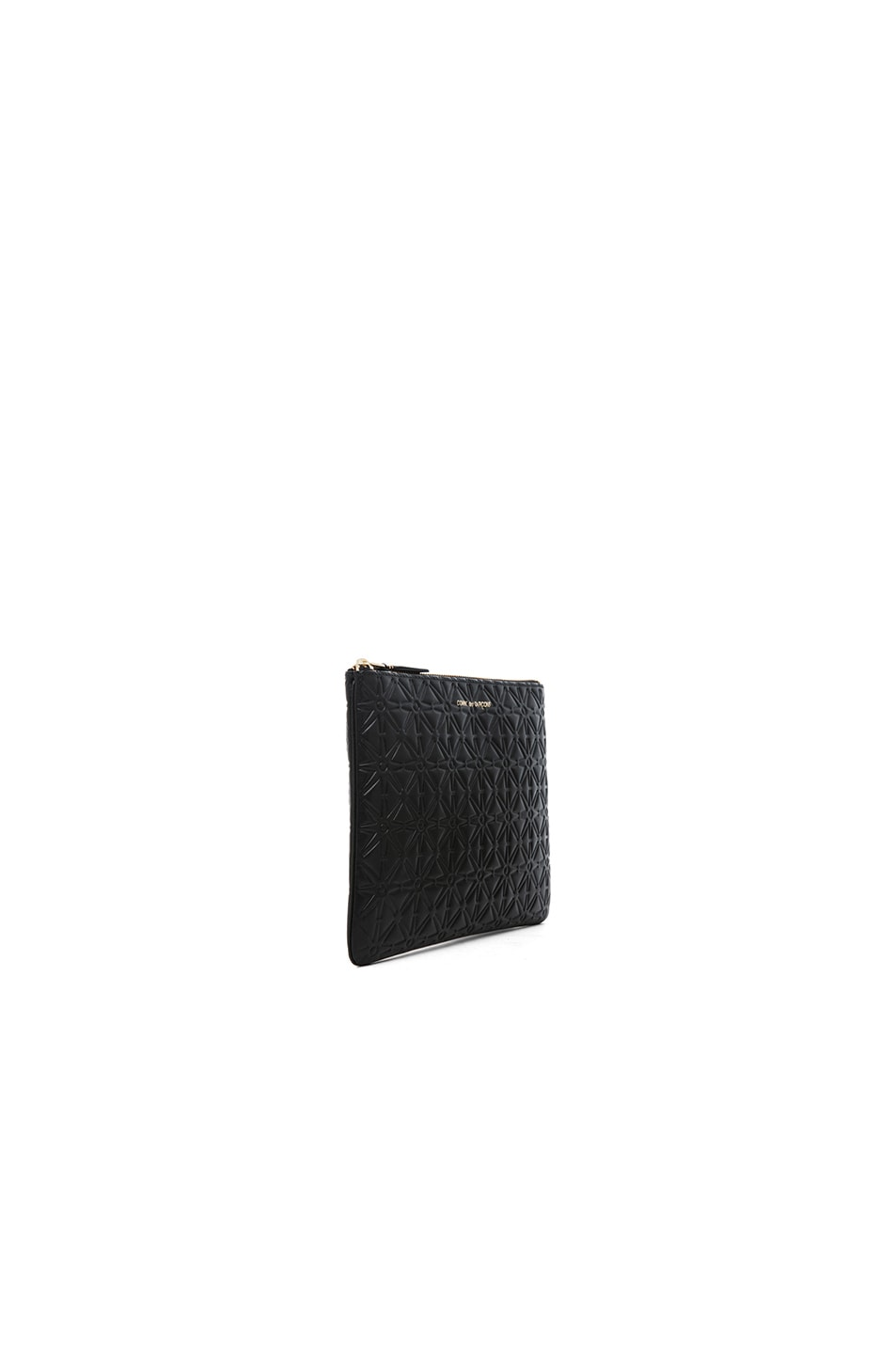 Image 3 of Comme Des Garcons Star Embossed Pouch in Black