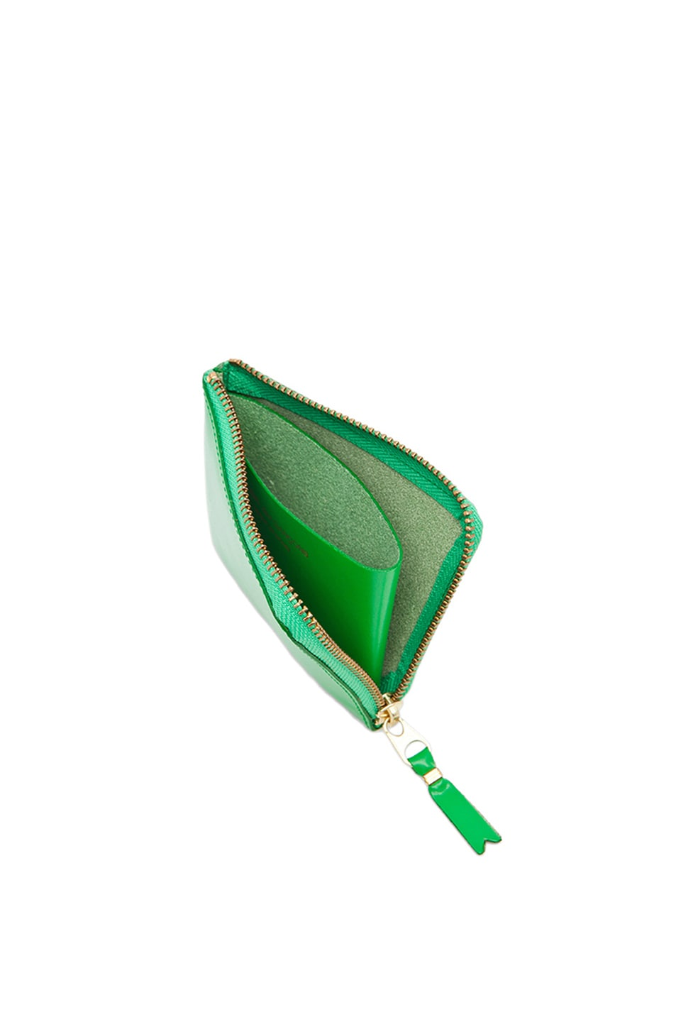 Image 4 of Comme Des Garcons Small Zip Wallet in Green