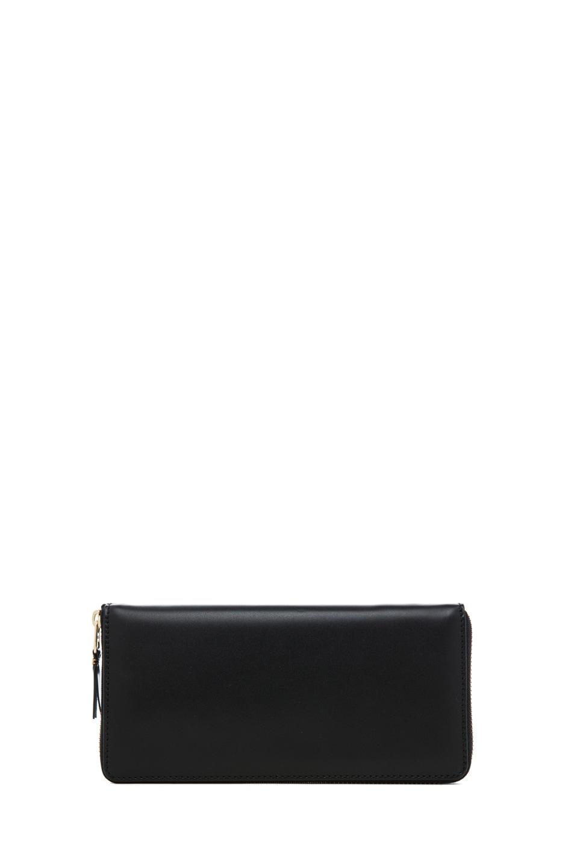 Image 1 of Comme Des Garcons Classic Zip Around Wallet in Black