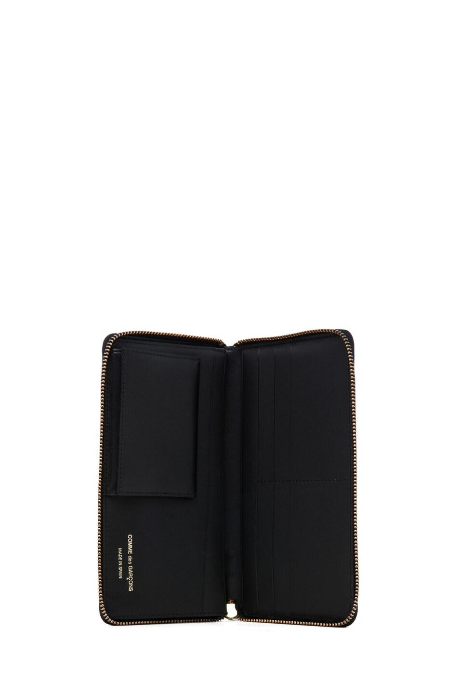 Image 4 of Comme Des Garcons Classic Zip Around Wallet in Black