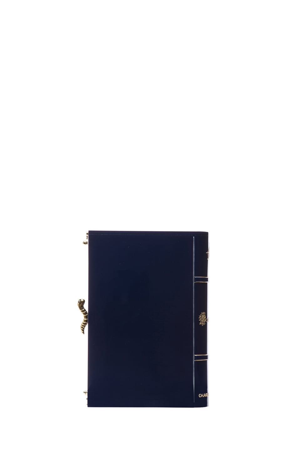 Image 2 of Charlotte Olympia Novel Clutch in Midnight