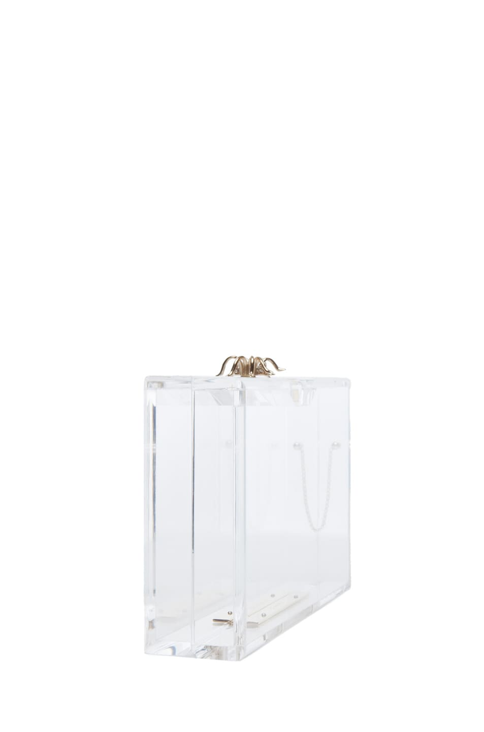 Image 3 of Charlotte Olympia Pandora Classic Clutch in Clear