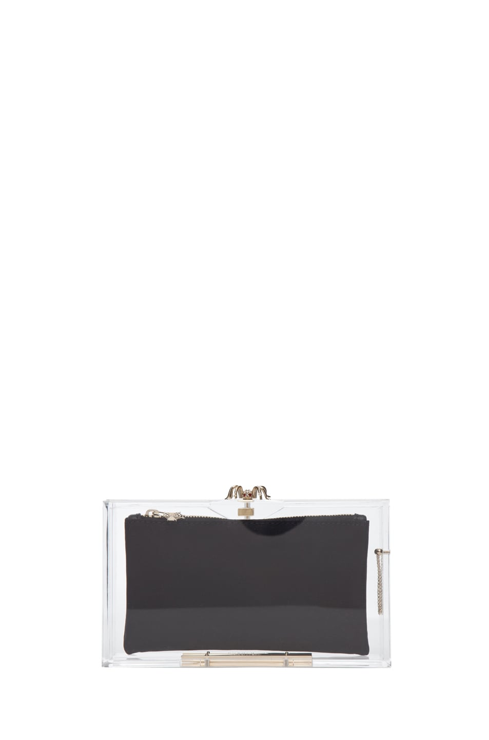 Image 6 of Charlotte Olympia Pandora Classic Clutch in Clear