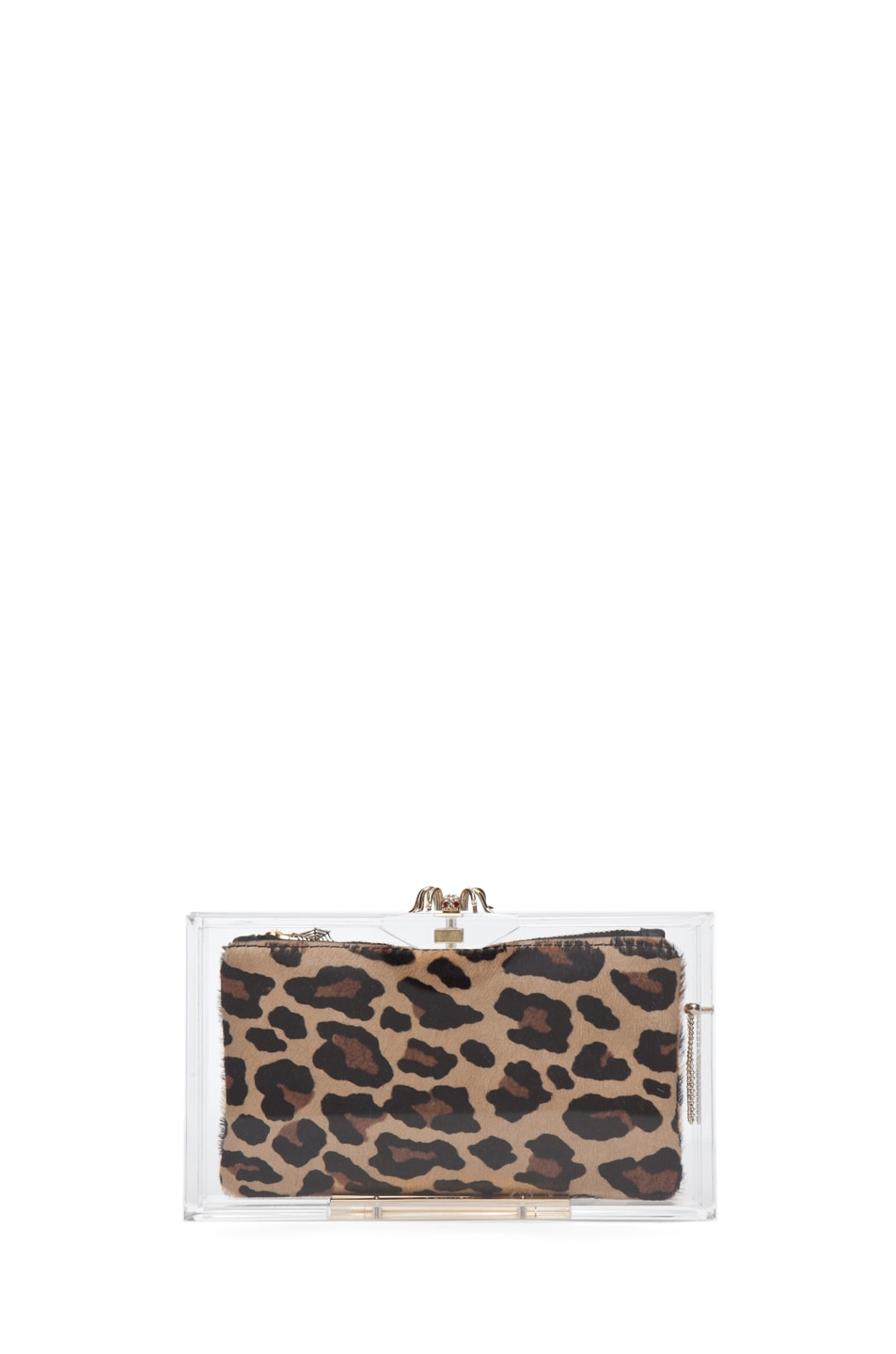 Image 7 of Charlotte Olympia Pandora Classic Clutch in Clear