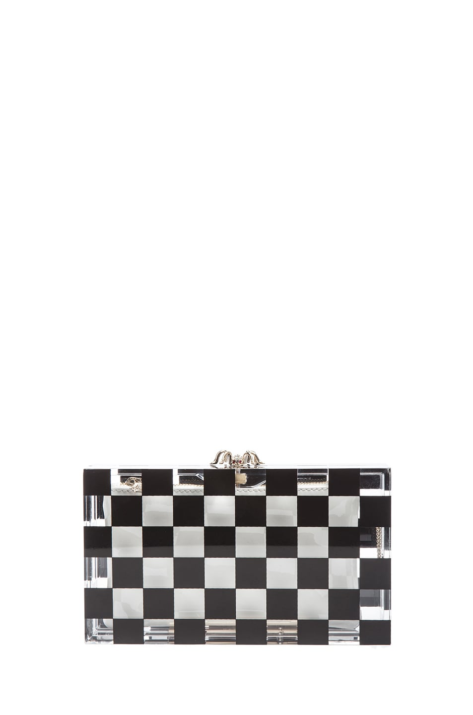 Image 1 of Charlotte Olympia Pandora Squared Clutch in Black