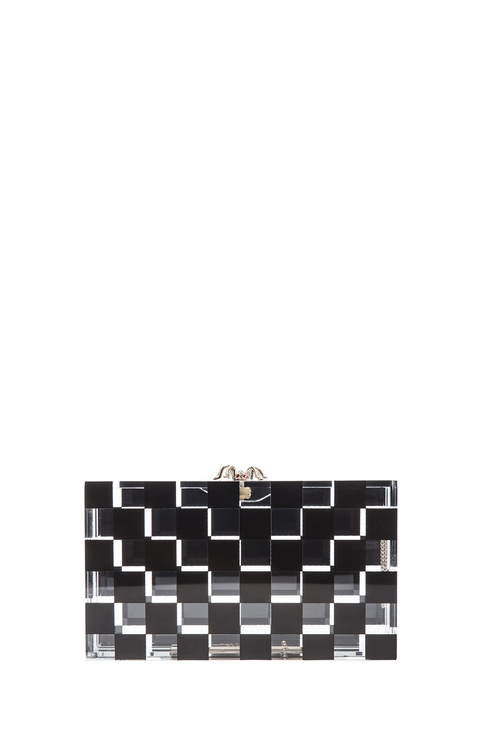 Image 2 of Charlotte Olympia Pandora Squared Clutch in Black