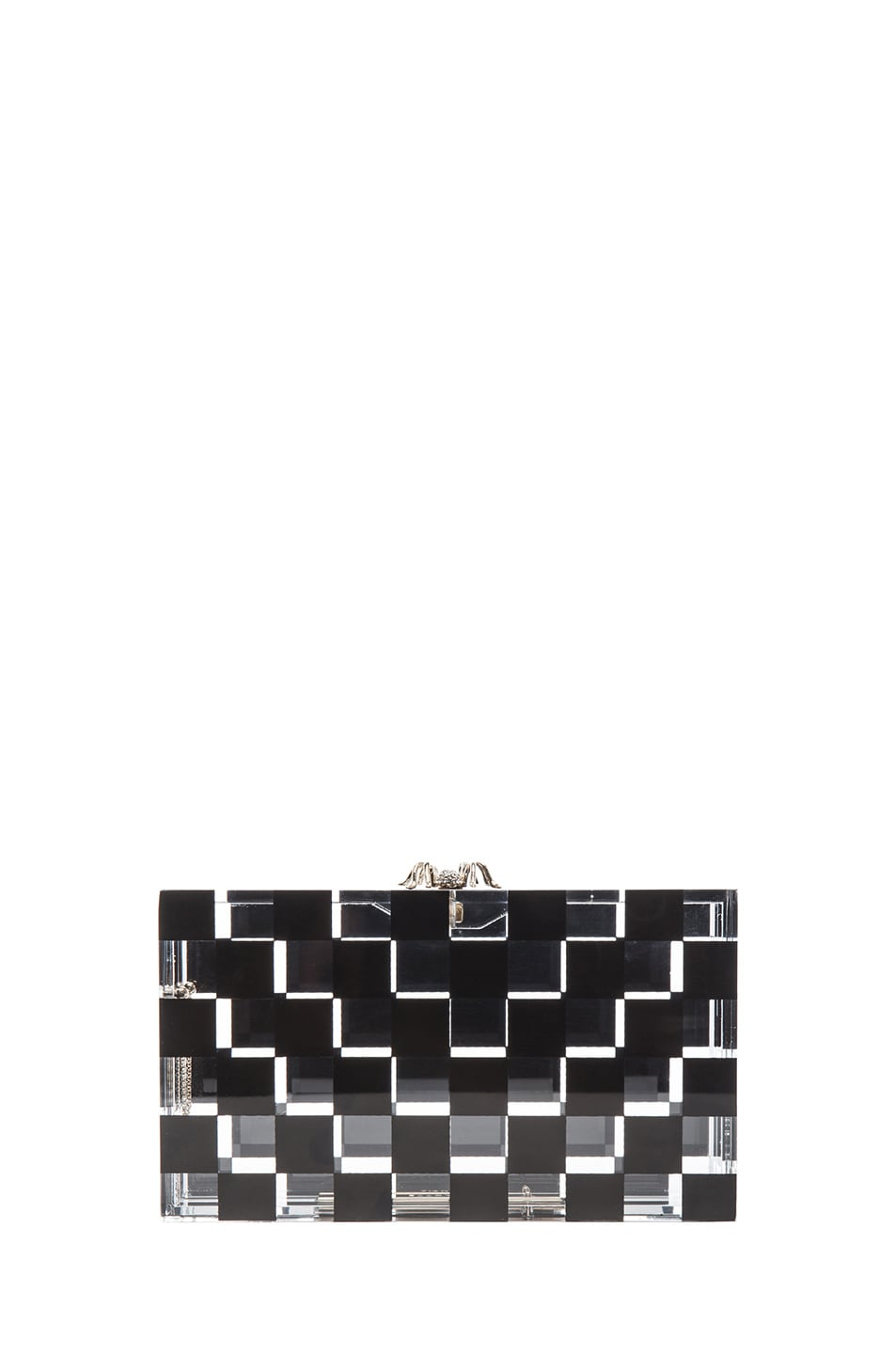 Image 3 of Charlotte Olympia Pandora Squared Clutch in Black