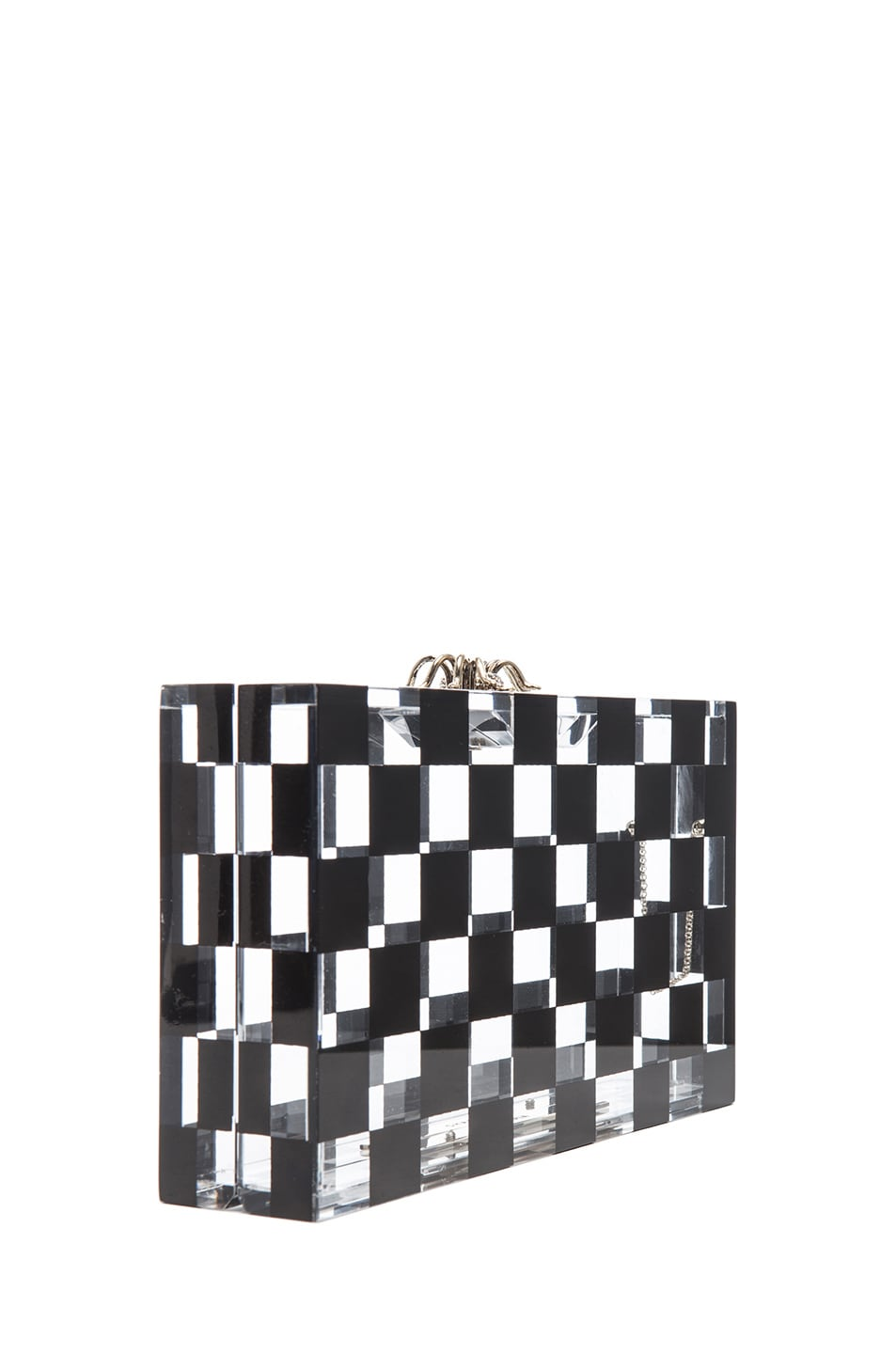 Image 4 of Charlotte Olympia Pandora Squared Clutch in Black