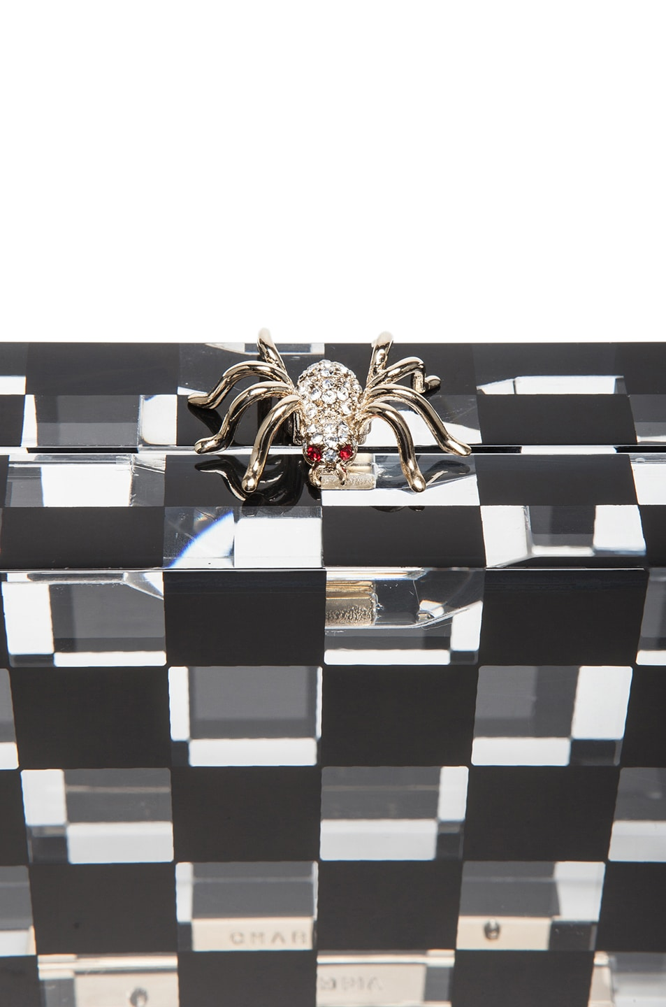 Image 5 of Charlotte Olympia Pandora Squared Clutch in Black