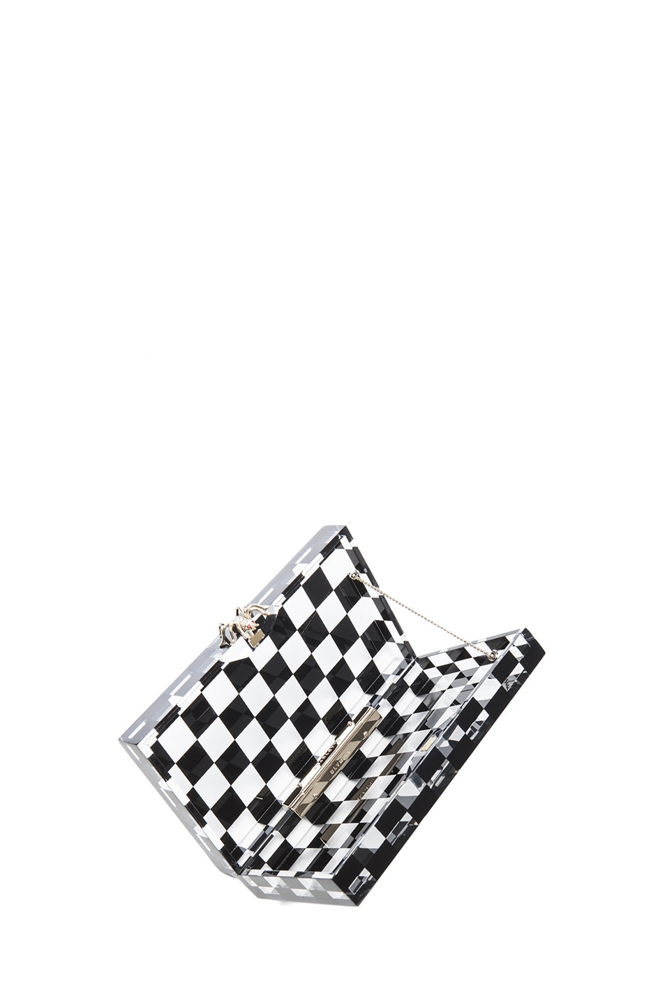 Image 6 of Charlotte Olympia Pandora Squared Clutch in Black