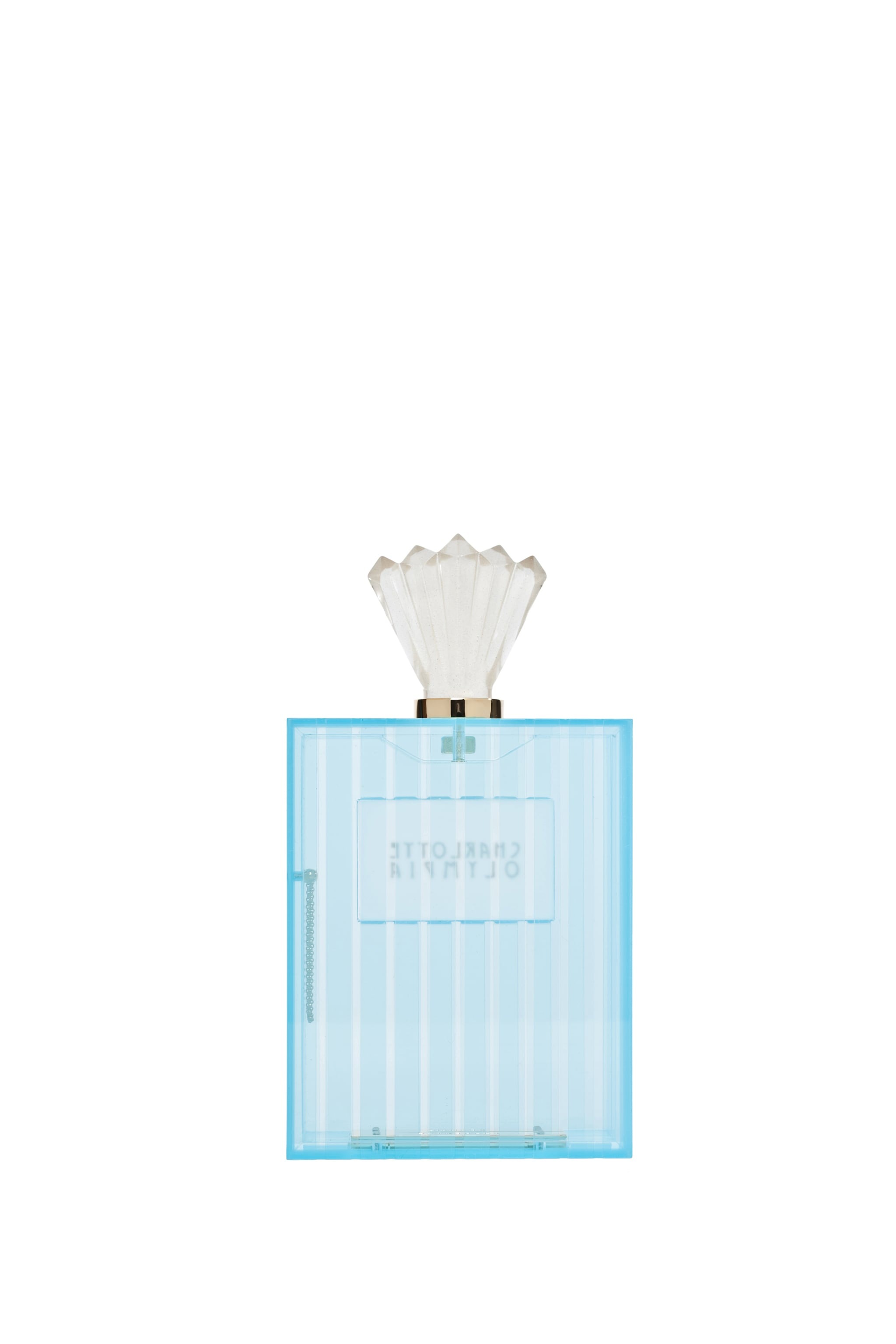 Image 2 of Charlotte Olympia Perfume Bottle Clutch in Blue