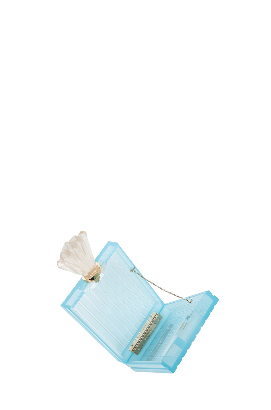 Image 4 of Charlotte Olympia Perfume Bottle Clutch in Blue