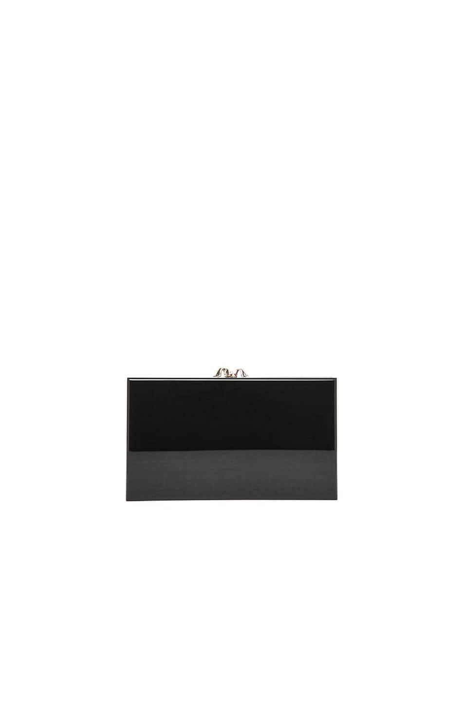 Image 3 of Charlotte Olympia Pandora Clutch in Black