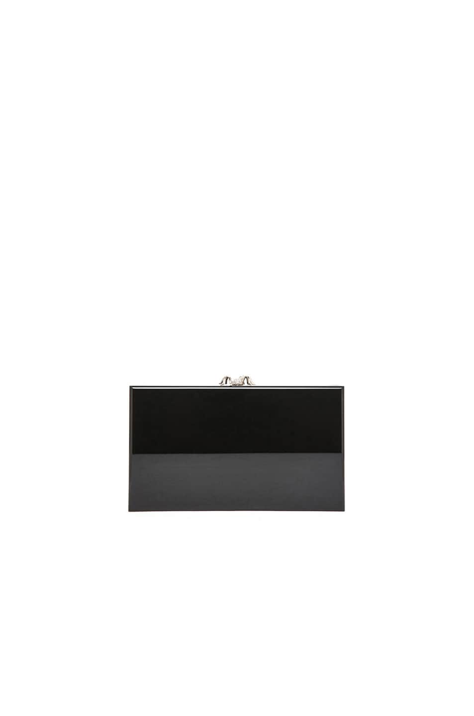 Image 4 of Charlotte Olympia Pandora Clutch in Black