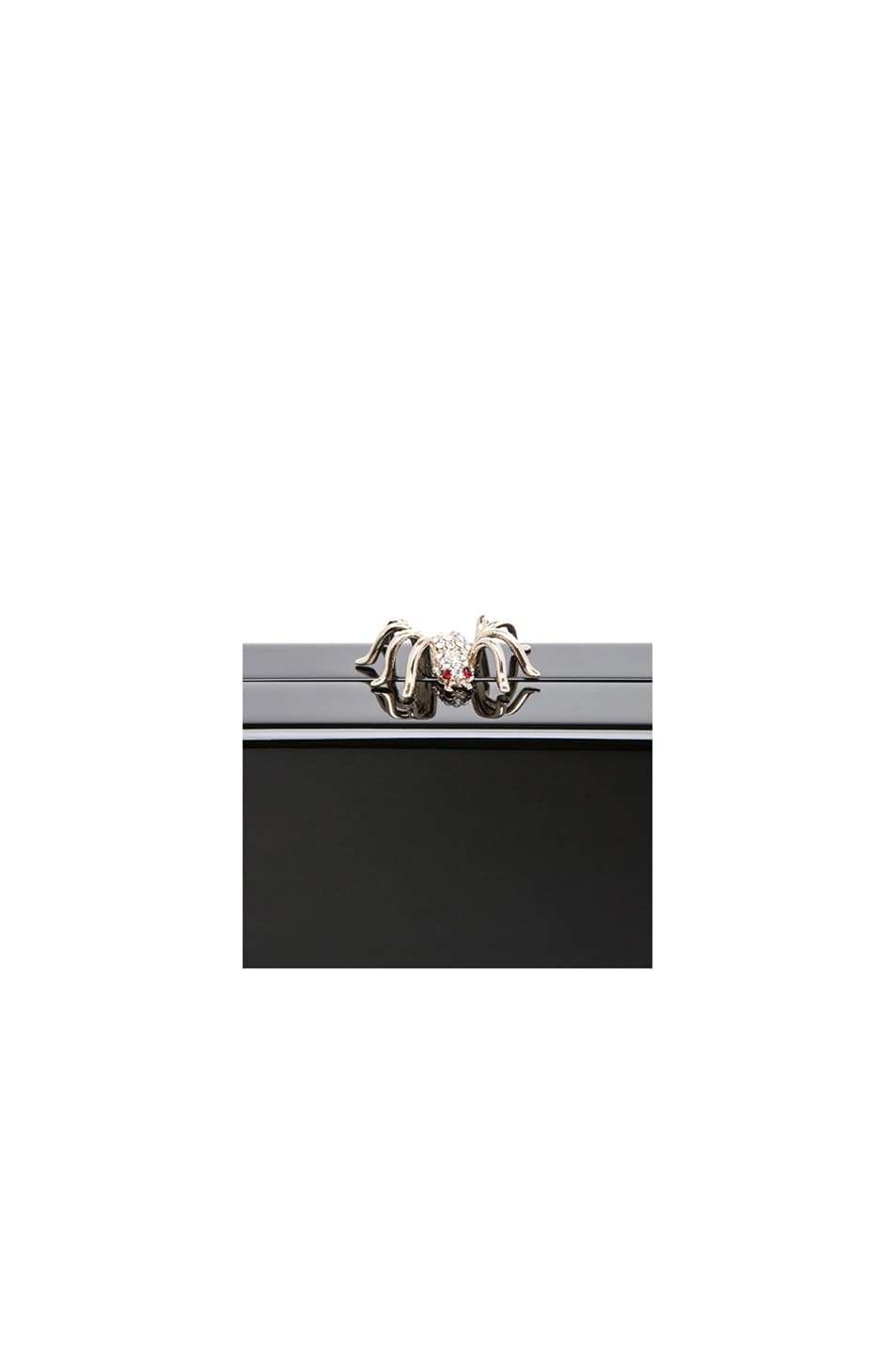 Image 6 of Charlotte Olympia Pandora Clutch in Black