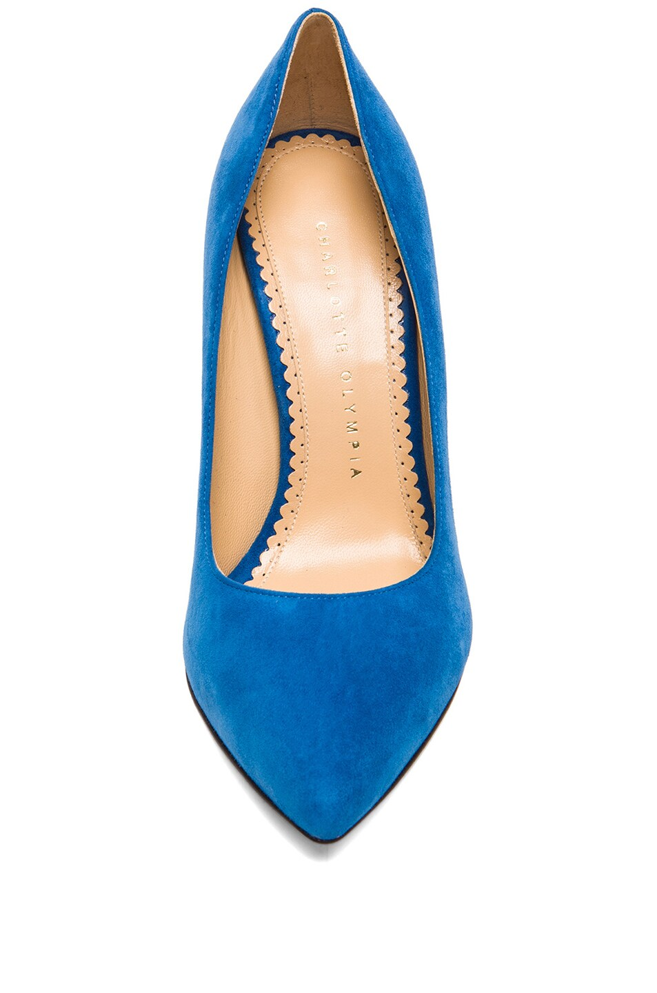 Image 4 of Charlotte Olympia Monroe Suede Pumps in Cobalt Blue