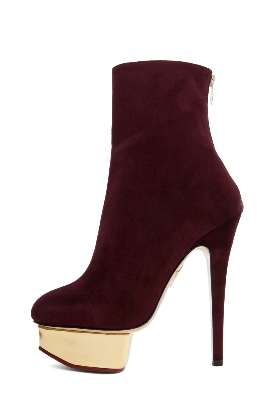 Image 1 of Charlotte Olympia Lucinda Ankle Boot in Aubergine