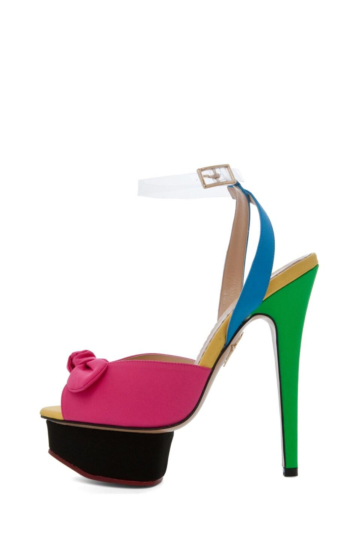 Image 1 of Charlotte Olympia Serena Ankle Platform Sandal in Multi