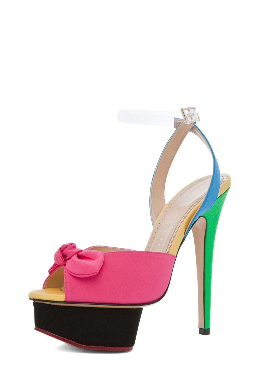 Image 2 of Charlotte Olympia Serena Ankle Platform Sandal in Multi