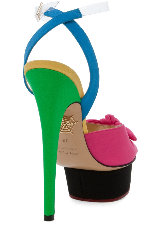 Image 3 of Charlotte Olympia Serena Ankle Platform Sandal in Multi