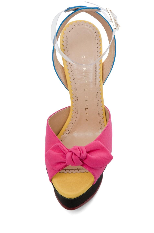 Image 4 of Charlotte Olympia Serena Ankle Platform Sandal in Multi