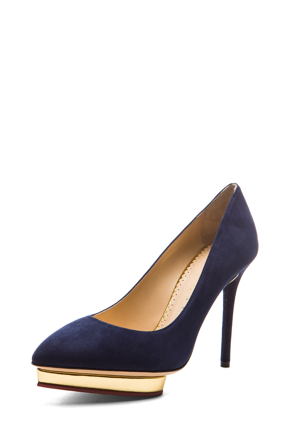 Image 2 of Charlotte Olympia Debbie Suede Pumps in Midnight