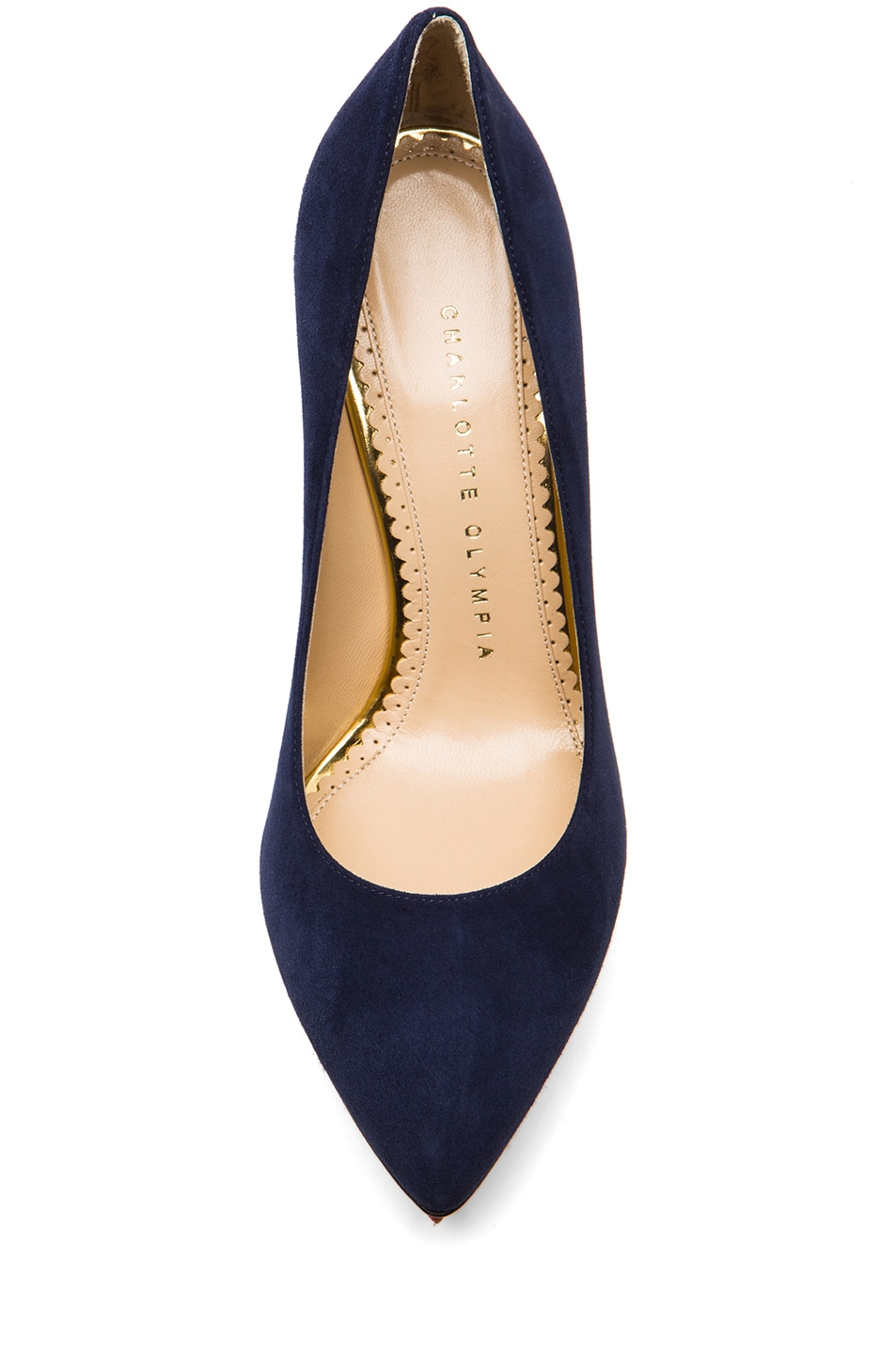 Image 4 of Charlotte Olympia Debbie Suede Pumps in Midnight