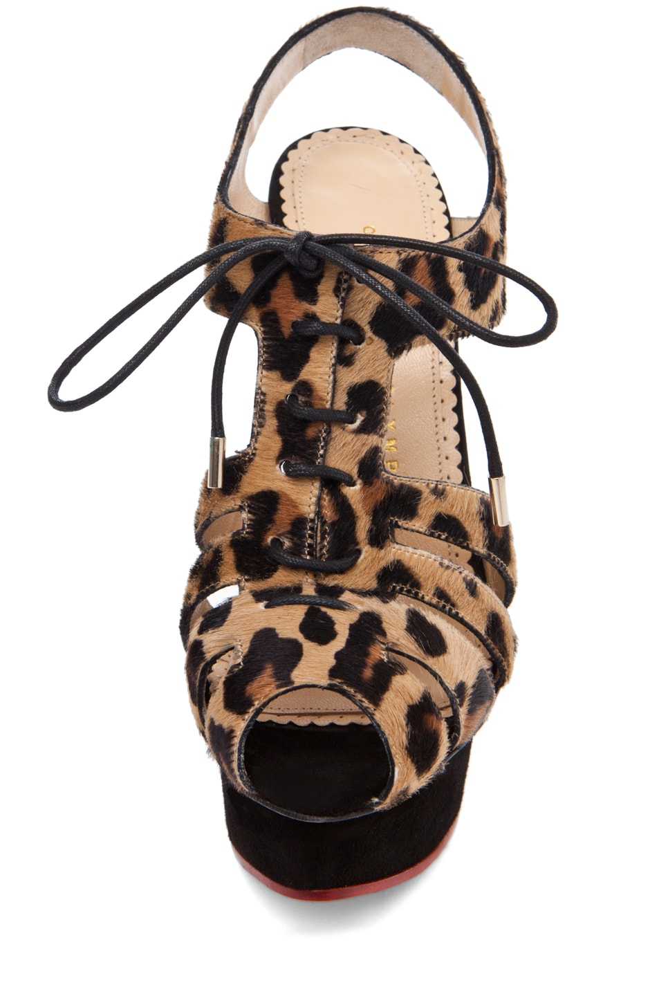 Image 4 of Charlotte Olympia Maxine Caged Signature Island Platform in Leopard