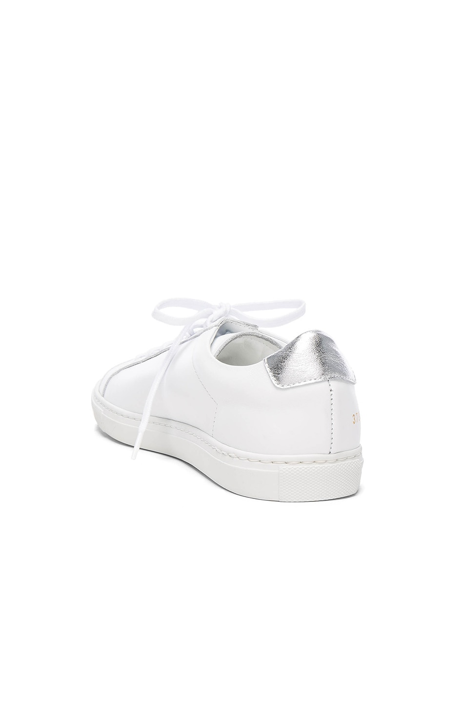 2 stores in stock common projects achilles leather low top sneaker white white silver. Black Bedroom Furniture Sets. Home Design Ideas