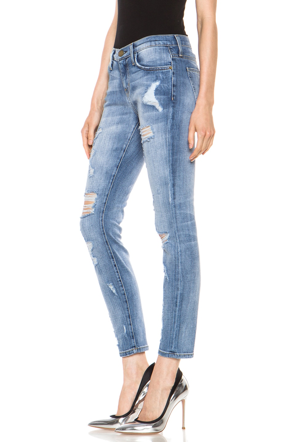 Image 2 of Current/Elliott The Stiletto Jean in Shredded
